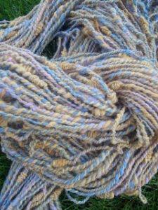 handspun alpaca yarn - summer sky