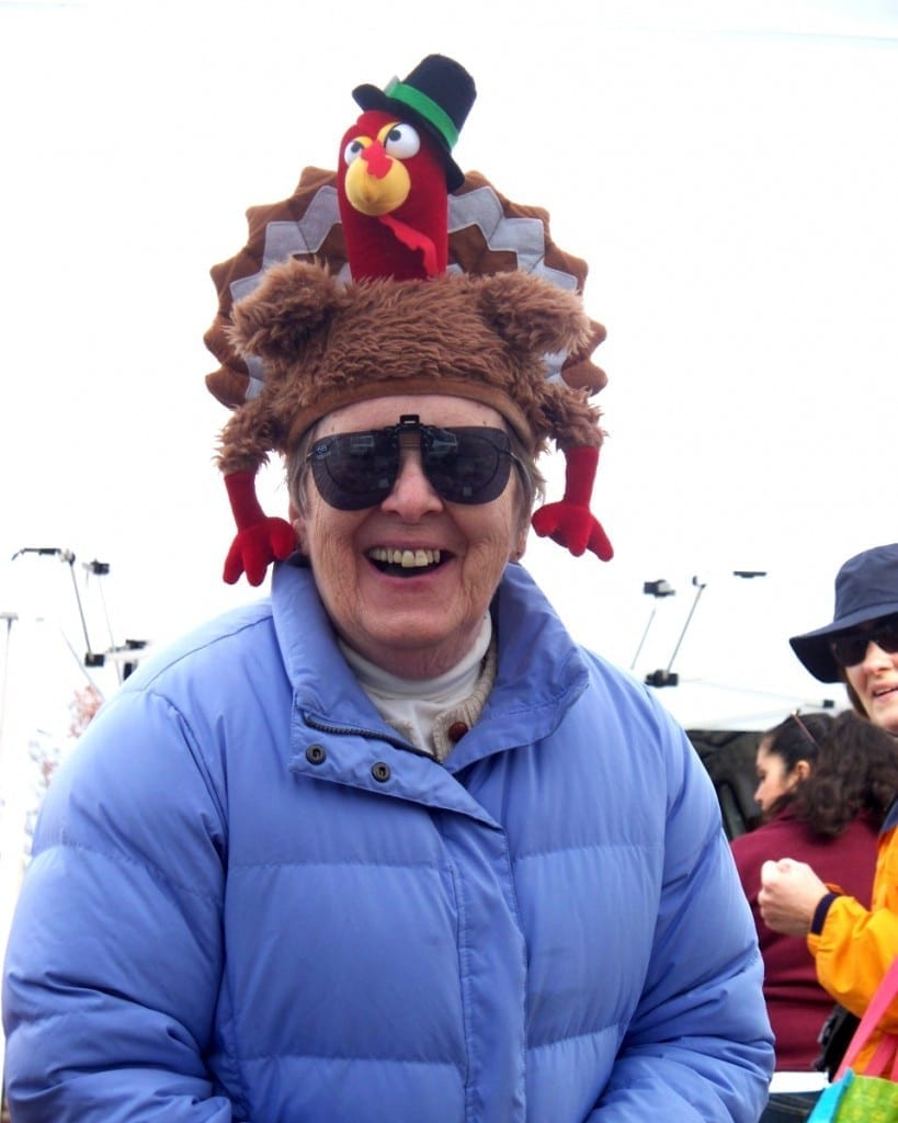 Woman With Turkey Hat