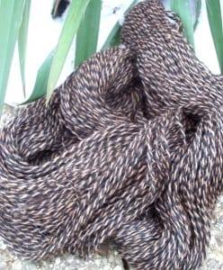 Black & Brown Suri Alpaca Yarn