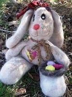 Felted Alpaca Easter Bunny