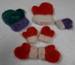 Christmas Needle Felting Class - Mittens