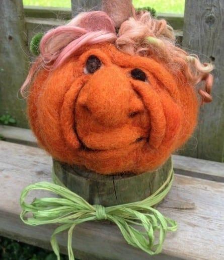 Felted Pumpkin Class