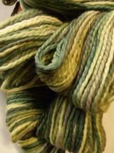 Hand-Painted Snuggle Yarn - A Group of Greens