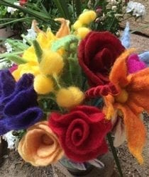 Felted Bouquet Wet Felting Kit