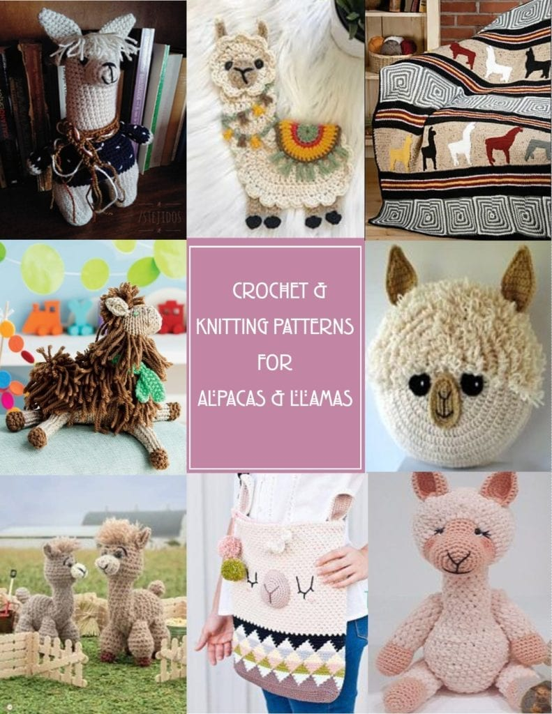 Crochet and Knitting Patterns for Alpacas and Llamas
