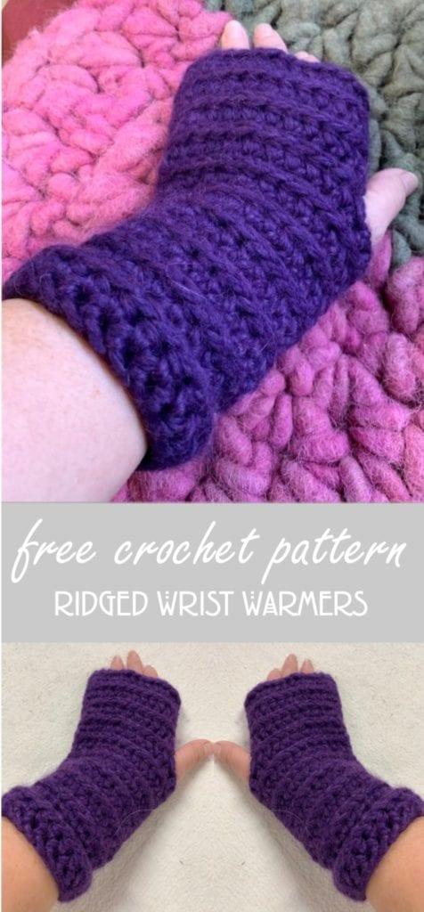 Free-Crochet-Pattern-Ridged-Wrist-Warmers