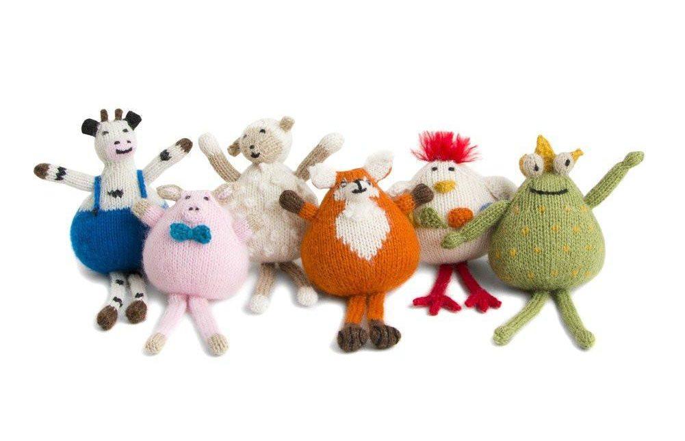 Hand Knit Alpaca Ornaments